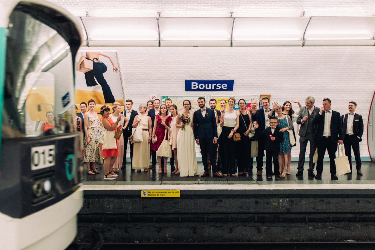 Photographe mariage Paris Metro parisien