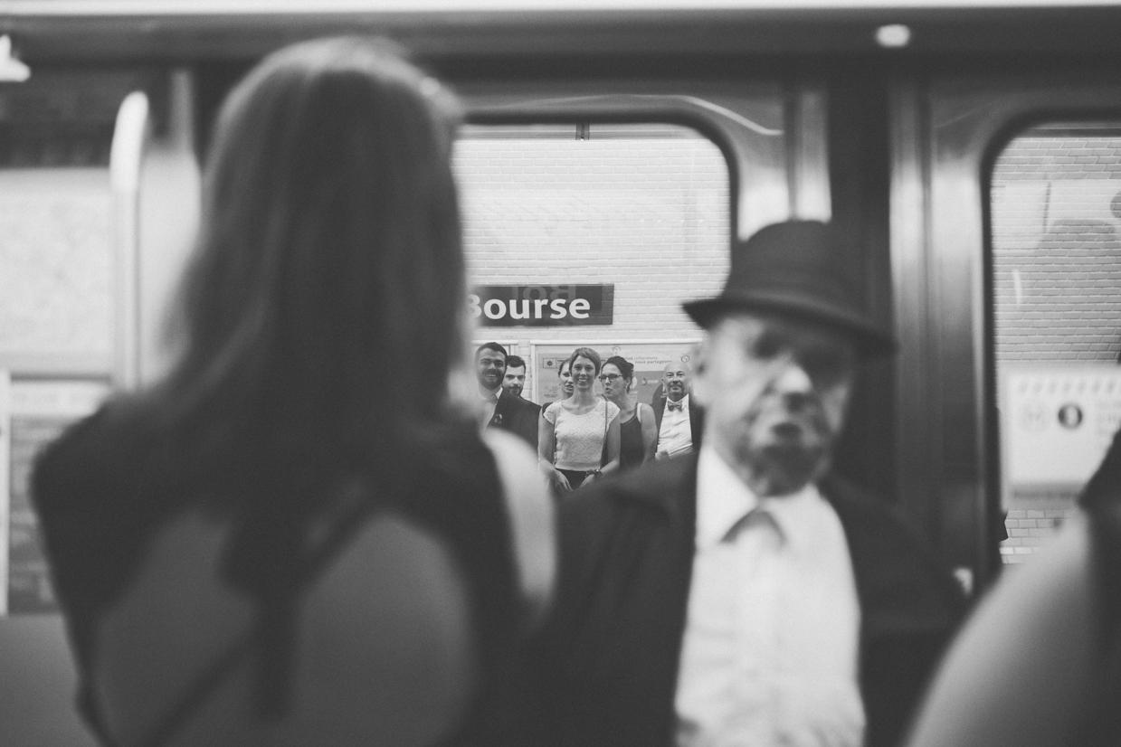 Photographe mariage métro parisien