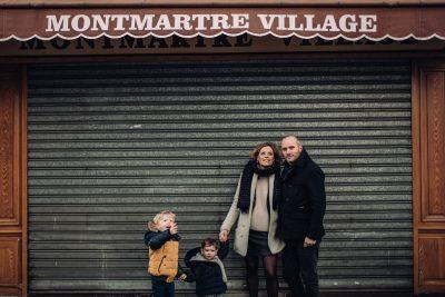 G+T+R+A - SÉANCE FAMILLE À MONTMARTRE