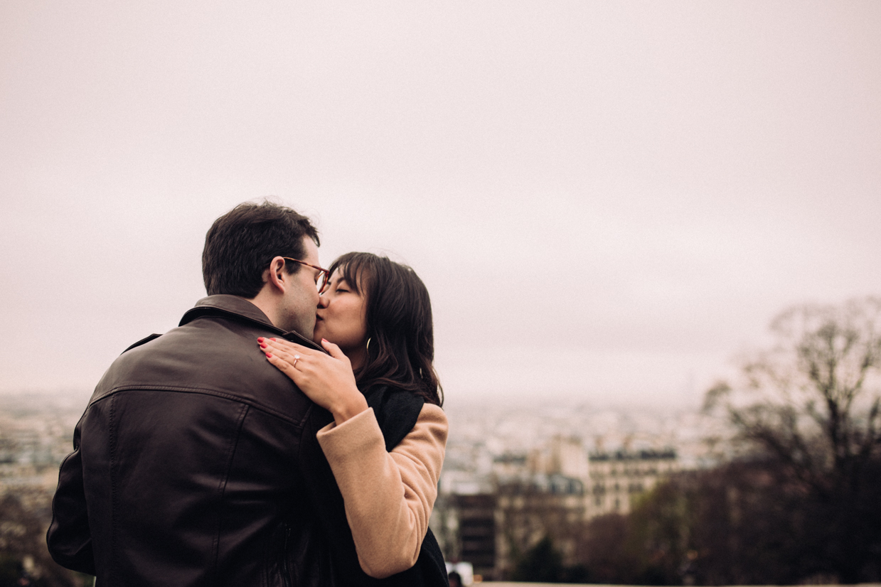 Engagement Montmartre Paris Photographe