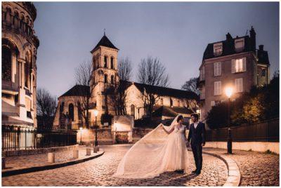 Alba + Damien /// Elopement vintage à Montmartre - Midnight in Paris