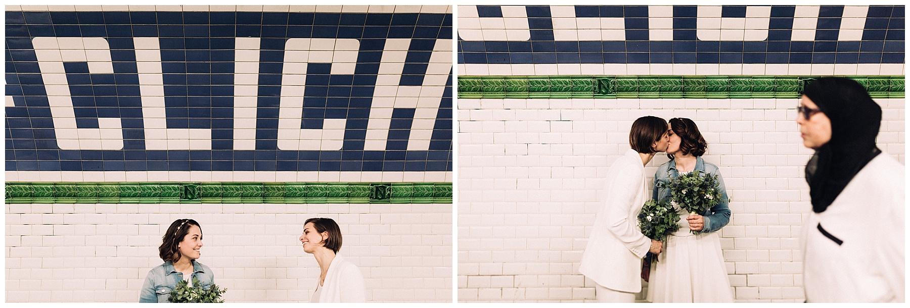 Photographe mariage Paris métro
