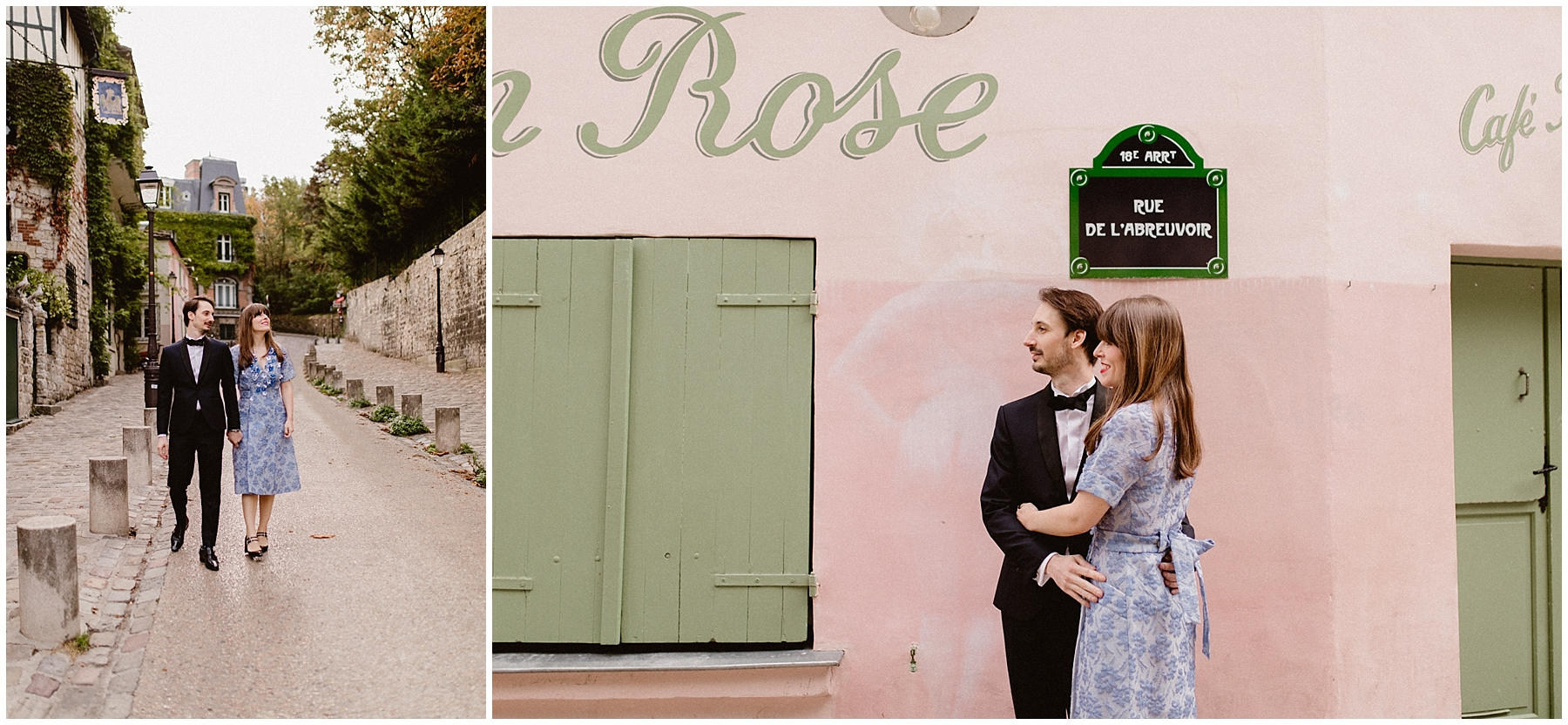 vintage wedding in montmartre