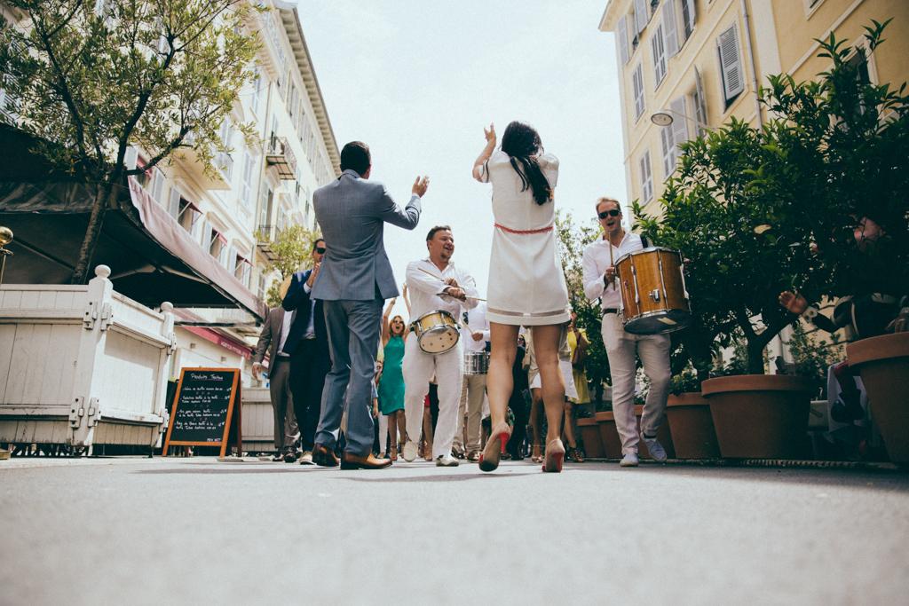 Mariage à Nice Rue Bonaparte