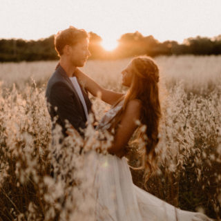 golden hour wedding in provence