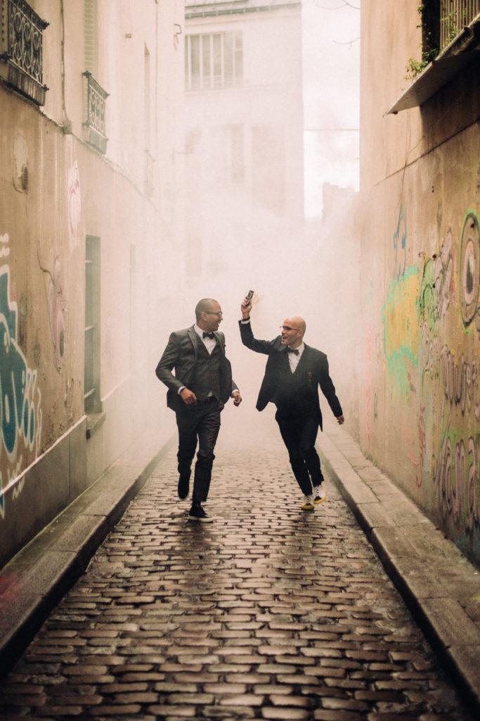 Photographe Mariage dans les rues de Montmartre