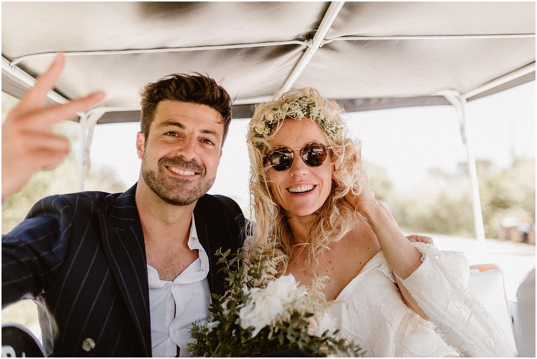 Mariage boheme Saint Tropez Mehari