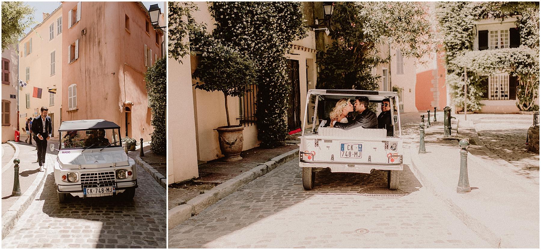 Mariage Mehari Saint Tropez