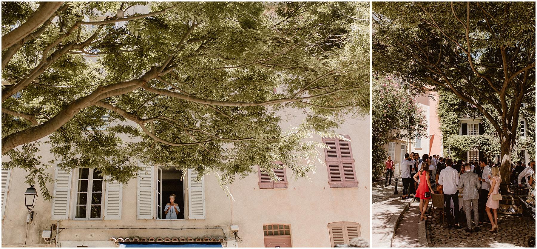 Mariage Place de l'Ormeau Saint Tropez