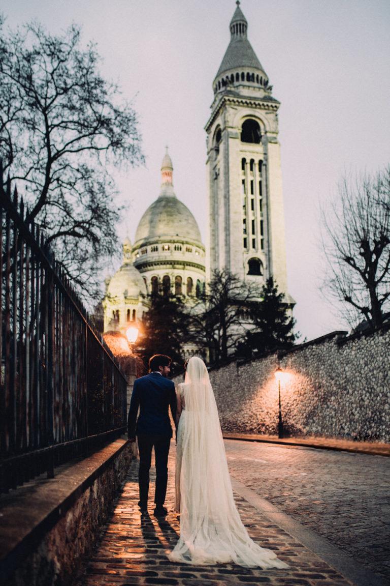 wedding in Montmartre Sacre coeur