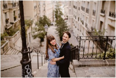 J + L - UN MARIAGE INTIME ET RÉTRO À MONTMARTRE - PARIS