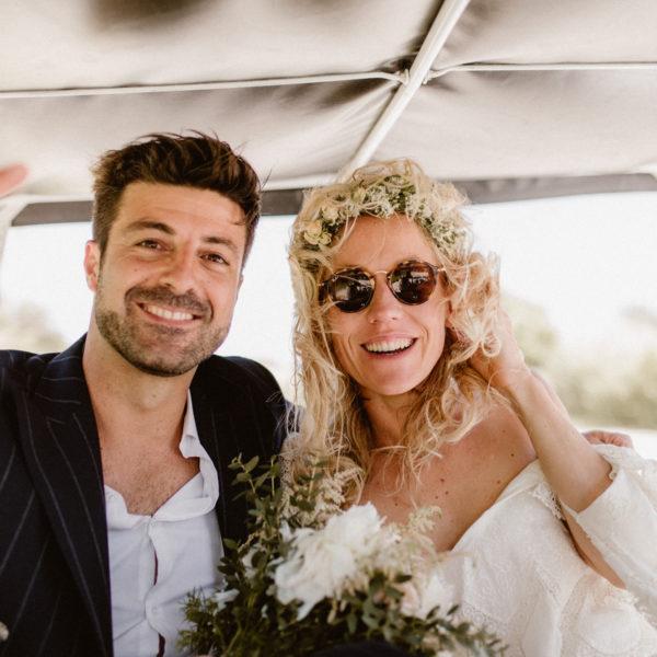 C + B - UN MARIAGE SUR LA PLAGE ENTRE RAMATUELLE ET SAINT-TROPEZ