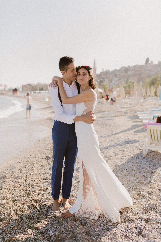 Mariage sur la plage Alpes Maritimes