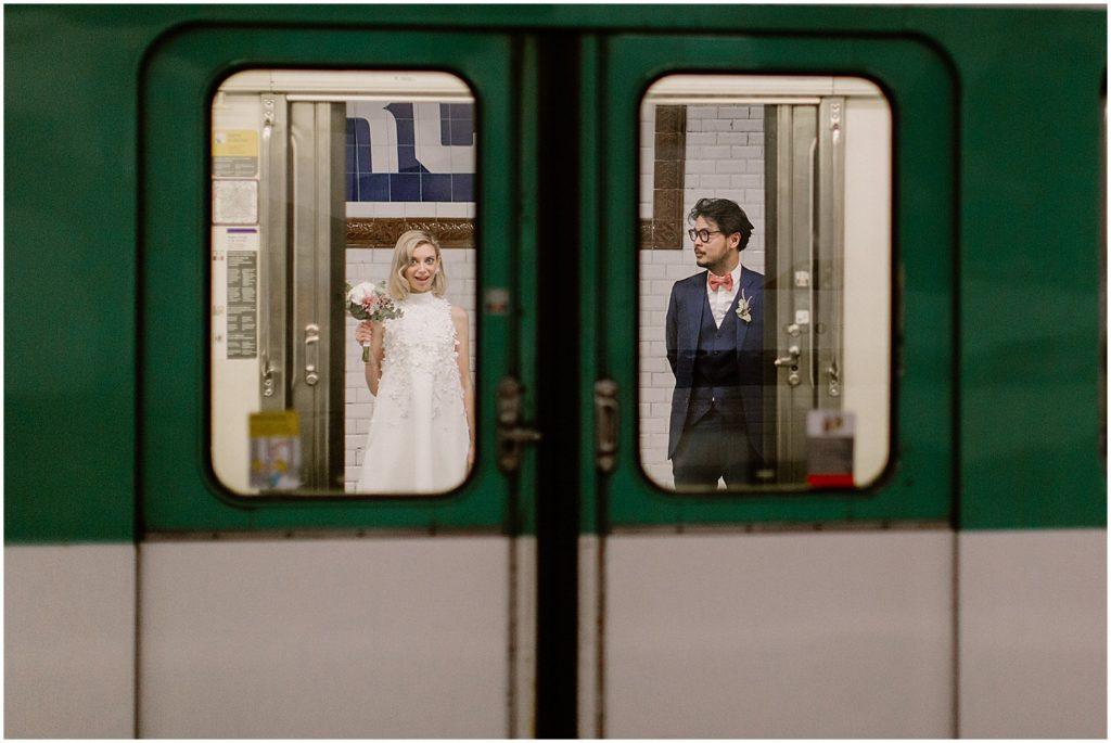 Photographe mariage métro de Paris