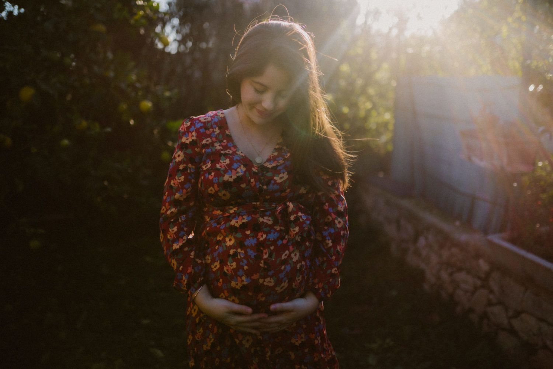 Seance photo soleil grossesse