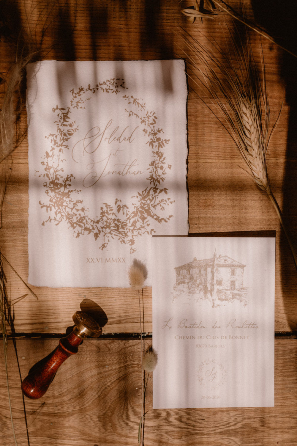 Papeterie mariage provence