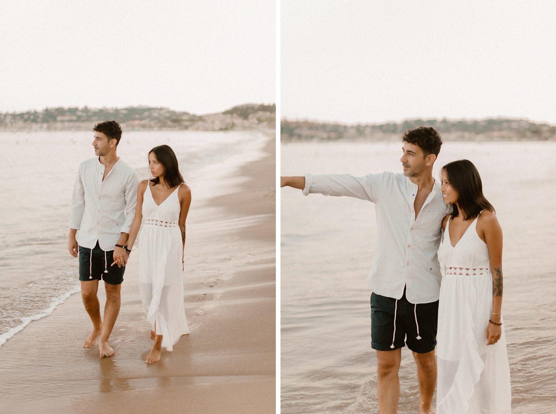 séance couple plage saint tropez