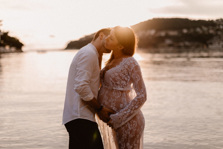 Séance photo grossesse à nice saint jean cap ferrat